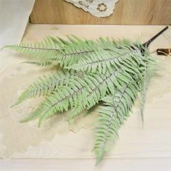 Цветок искусственный куст папоротник беленый h=65см, арт. 5644