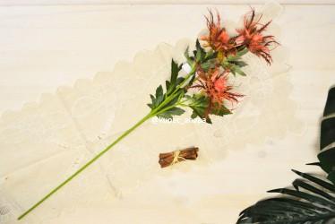 Цветок искусственный ветка зелень эрингиум 67см, арт. 5648