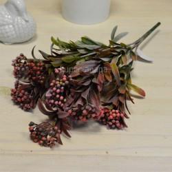 Цветок искусственный куст вереск пушистый розовый h=39см, арт. 5649