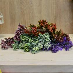 Цветок искусственный куст вереск пушистый белый h=39см, арт. 5649