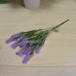 Цветок искусственный куст лаванда h=33см, арт. 5650