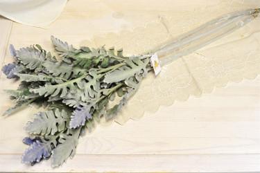 Цветок искусственный ветка зелень чистец большой 78см, арт. 5653