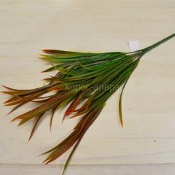 Цветок искусственный куст пырей осока красно-коричневый h=37см, арт. 5654