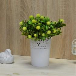 Цветок искусственный куст олеандр с шишками желтый h=30см, арт. 5658