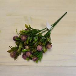 Цветок искусственный куст олеандр с шишками сиреневый h=30см, арт. 5658