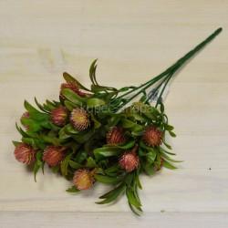 Цветок искусственный куст олеандр с шишками бордовый h=30см, арт. 5658