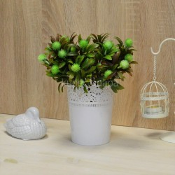 Цветок искусственный куст олеандр с шишками зеленый h=30см, арт. 5658