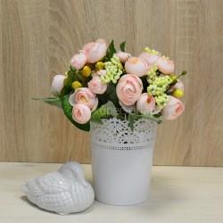 Цветок искусственный букет камелия с добавками 26см, арт. 5660/3