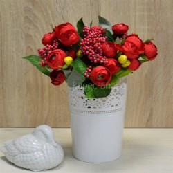 Цветок искусственный букет камелия с добавками 26см, арт. 5660/2