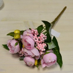 Цветок искусственный букет камелия с добавками 26см, арт. 5660/1