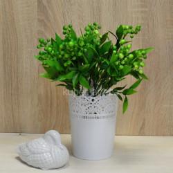 Цветок искусственный куст боярышник цветной зеленый h=36см, арт. 5664
