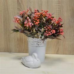 Цветок искусственный куст боярышник цветной розовый h=36см, арт. 5664