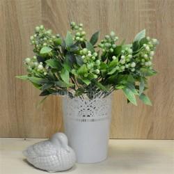 Цветок искусственный куст боярышник цветной белый h=36см, арт. 5664