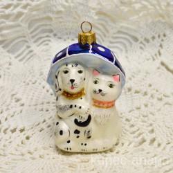 "Елочная игрушка ""Друзья собака и кошка"" далматин арт. 5667 ID4253"