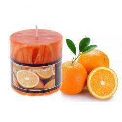 """Свеча столбик """"Апельсин"""" цвет оранжевый, 7*7см, арт. 594453"""