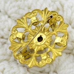 "Винтажная брошь ""Цветок"" под золото, ID 1671"