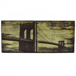 """Картина ретро образ """"Бруклинский мост"""" дерево, арт. 1324"""