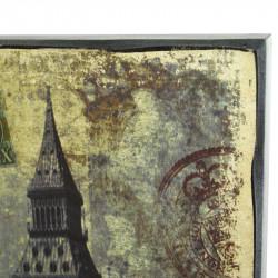 "Картина ретро образ ""Лондон"" дерево, арт. 1323"