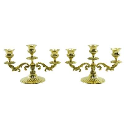 Подсвечники пара на 3 свечи, арт. 2800