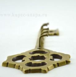 "Вешалка ""Ключ"" на 5 крючков, латунь, 23*8см, арт 542"