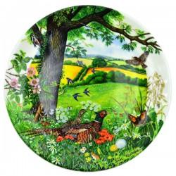 """Тарелка серия """"Meadows and Wheatfields"""" фазаны, арт. 1642"""