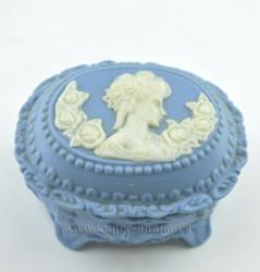 """Шкатулка на ножках овальная """"Камея"""" 6,5*10*8см, 224гр., арт. 2741"""