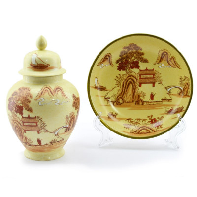"Чайница и тарелка ""Пейзаж"", арт. 2304"
