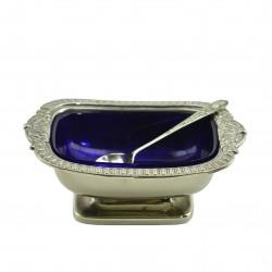 Солонка с ложечкой (горчичница) 4*7*10,3см, 149гр., арт. 2742