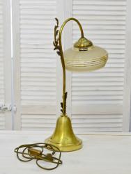 Бронзовая настольная лампа со стеклянным плафоном, ID3359