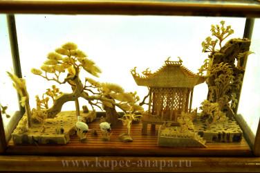 "Диорама ""Пейзаж. Пагода"" 13*20*7,5см, 377гр., арт. 2681"