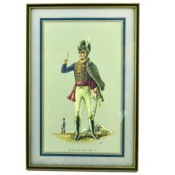 "Картина - литография. Офицер ""The Royal Horse Artillery. Offcer: 1815""  арт.2819"