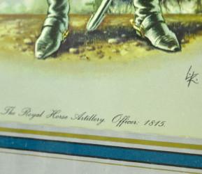 "Картина - литография. Офицер ""The Royal Horse Artillery. Offcer: 1815""  арт.2819"