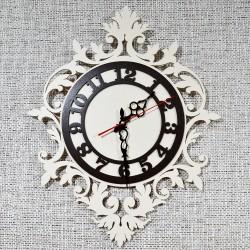 """Часы настенные """"Ажурные"""" кремовый/коричневый 50*40см., арт.4711"""