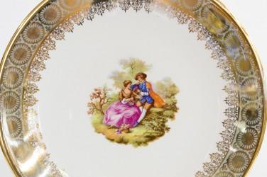 """Тарелка декоративная c настенным креплением """"Галантная пара. Барокко"""" 24см, id1891"""