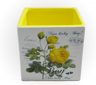 """Кашпо для цветов """"Желтые розы"""", арт.  0181"""