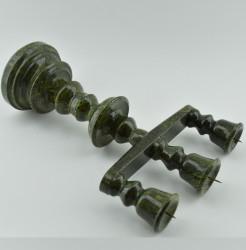 """Канделябр на 3 свечи """"Змеевик"""" 28*20см, 1649гр."""