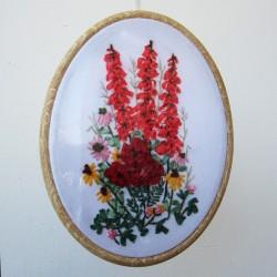 """Картина в овальной раме """"Цветы"""", арт. 1609"""