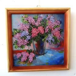 """Картина вышивка лентами """"Сирень"""", арт. 1610"""