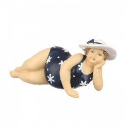 "Фигурка ""Дама. Пляжница"" в синем  7х9х8,5см., арт."
