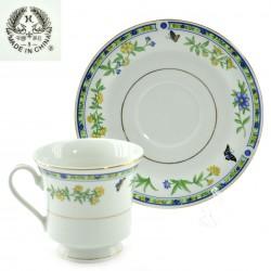 """Чайная пара """"Бабочки в цветах"""" 200мл ,  арт. 2221"""