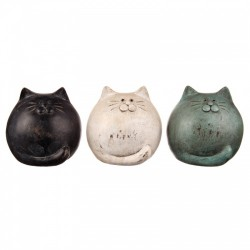 Статуэтки коты ( набор из 3 шт ) 11,5Х10Х10,5/11Х11Х11/11Х11Х11, арт.