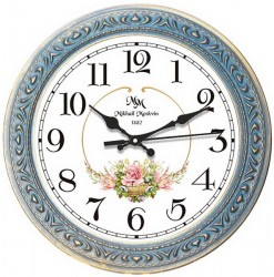 """Часы настенные Верона 7-7 """"Розы"""" d31см., арт. 3945"""
