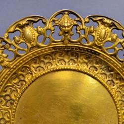 Фруктовница блюдо настенное панно, латунь арт. 0942