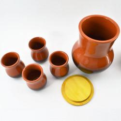 Набор питьевой: крынка + стакан 4шт., арт. 1204
