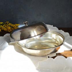 Блюдо с крышкой - менажница серебрение, арт. 2435/2