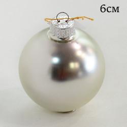 """Елочная игрушка шар """"Цвет серебристый матовый"""" 6см., ID1948 / 1456"""
