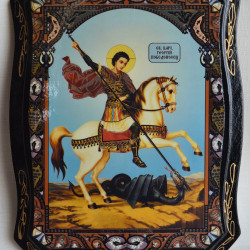 "Икона на дереве ""Георгий Победоносец"" 22х17см., арт. 4797"