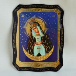 """Икона на дереве """"Остробрамская икона Божией Матери"""" 22х17см., арт. 4797"""