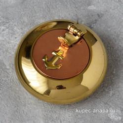 """Пепельница карманная """"Якорь"""" 6см, латунь/медь, арт. 5403"""