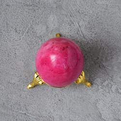 Яйцо 4,5*5,7см на подставке, камень розовый, арт. 5525